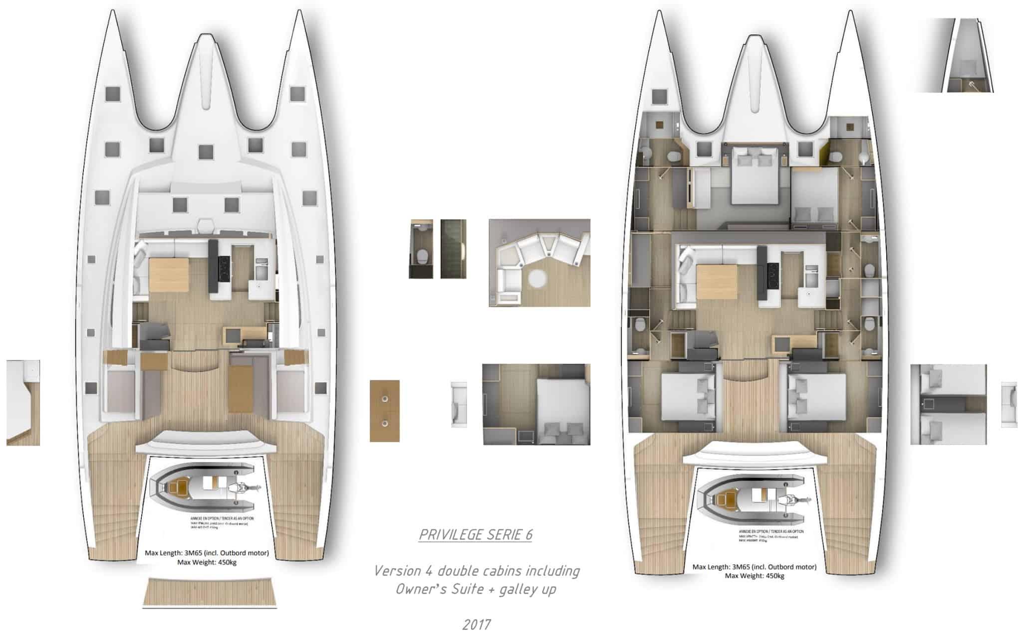 Privilege Series 7 Catamaran Layout3