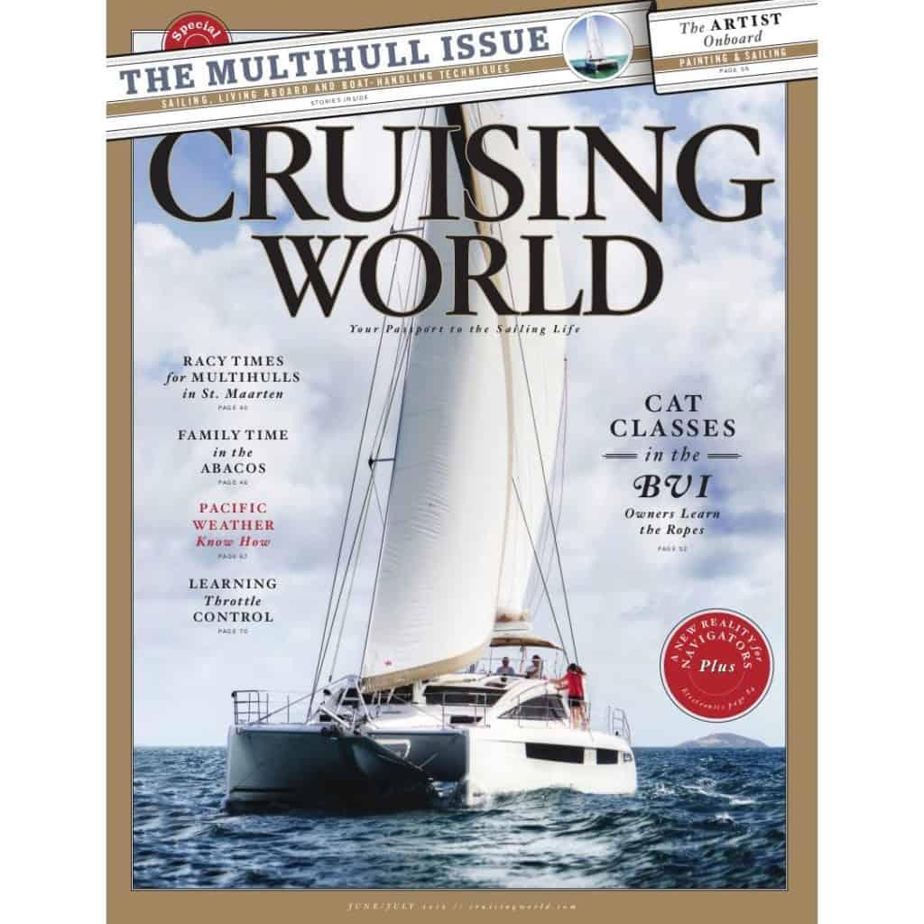 Privilege Catamaran on the cover of Cruising World Magazine