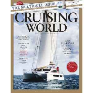 Privilege Catamaran on the cover of Cruising World Magazine