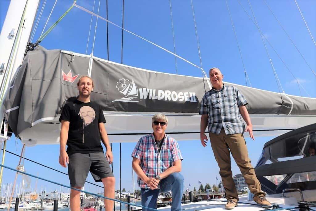 Brett Rob and Rob on Wildrose II