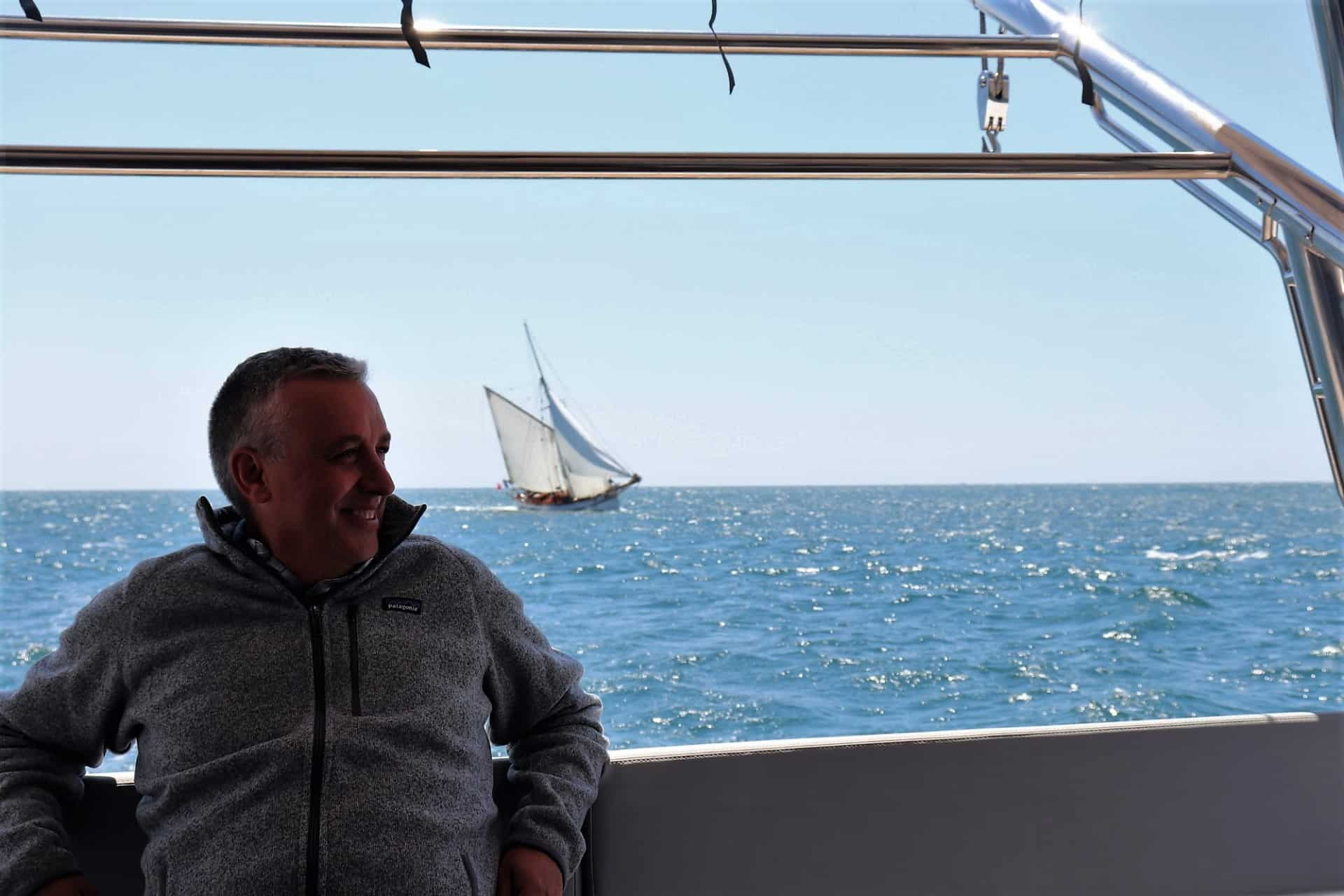 Rob just enjoying his new boat.