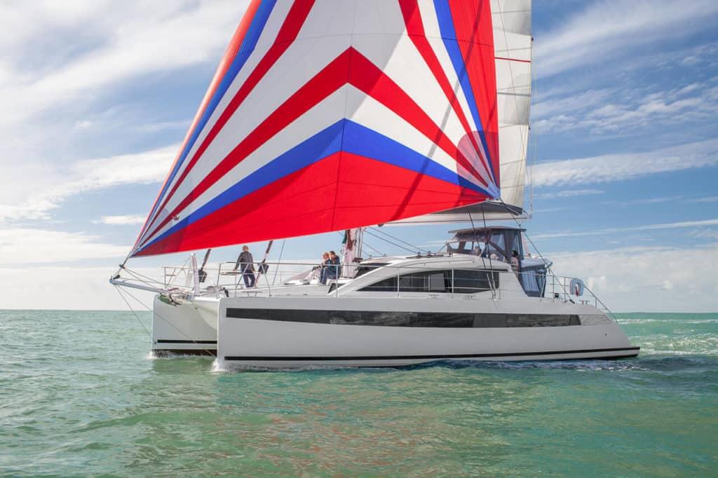 Privilege 510 Catamaran Sailing
