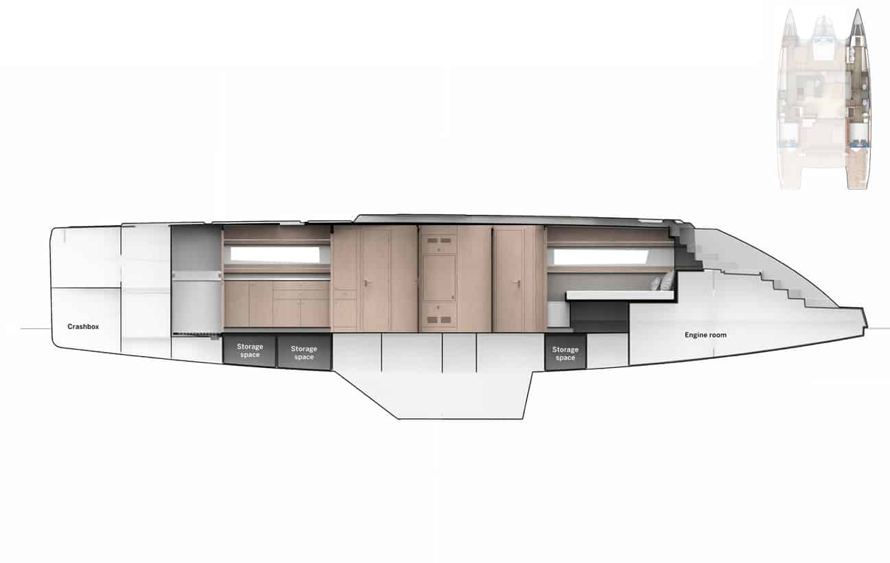 Privilege 510 Hull Plan Starboard Outside View