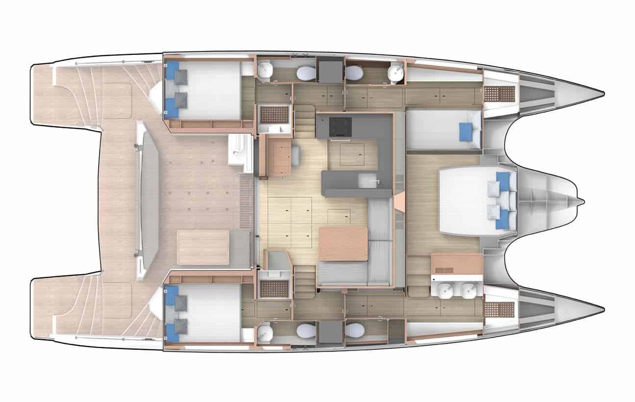 Privilege 510 3 Cabin Option