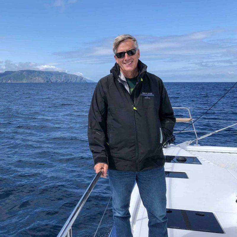 Rob Poirier at Privilege Catamarans America