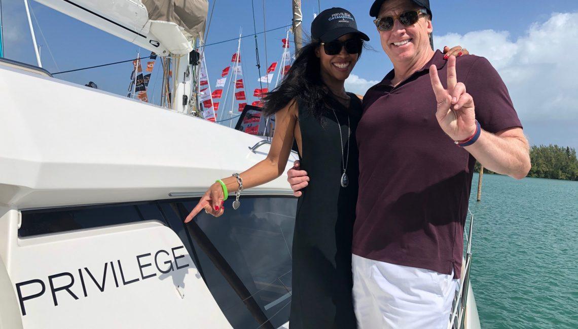 Noelia & John on their new Privilege 500