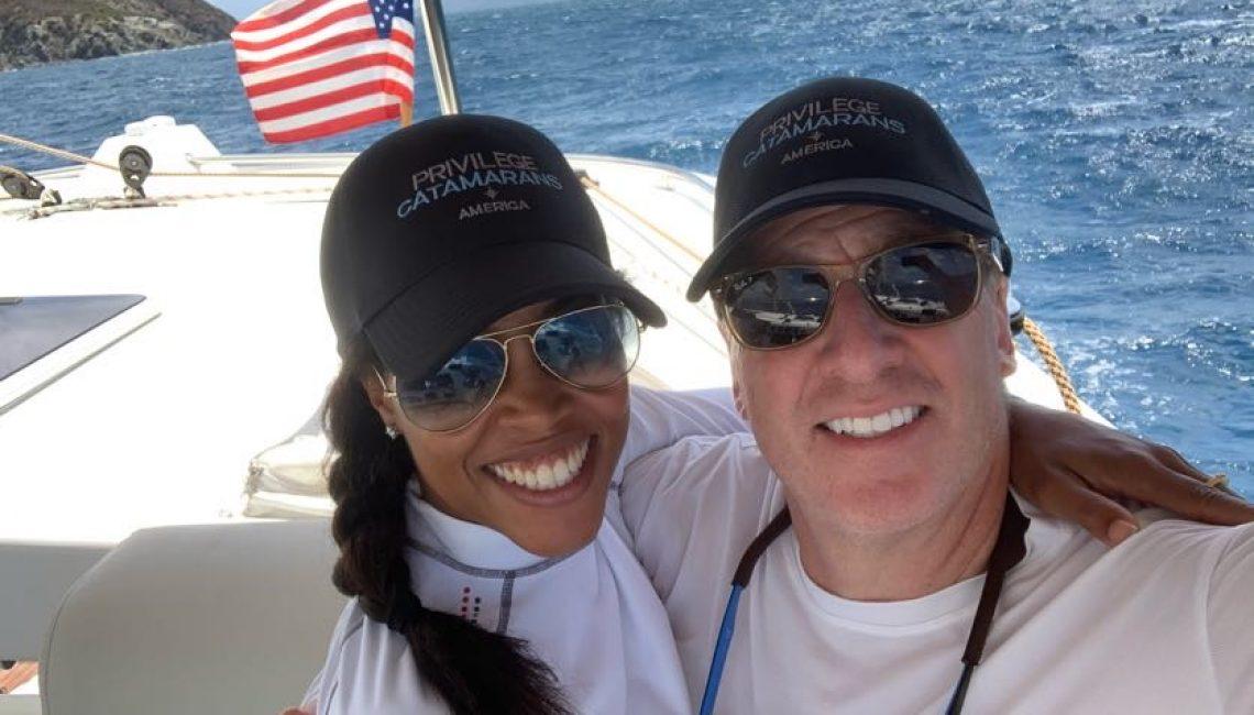 John and Noelia aboard s/v Sayonara